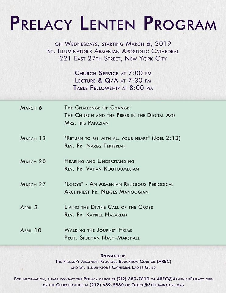 Lenten program flyer