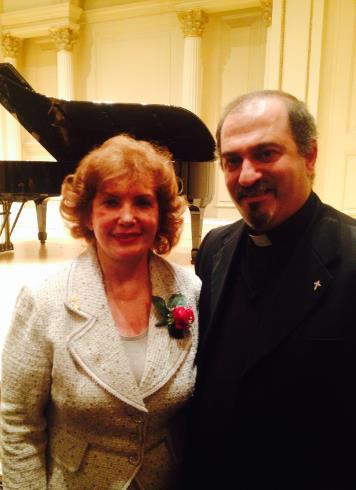 Rev. Fr. Mesrob Lakissian with Dr. Svetlana Amirkhanian, President and Founder of Direct Help for Armenian People